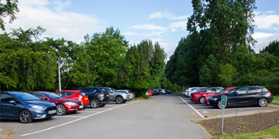 Full car park at Eastwood Park
